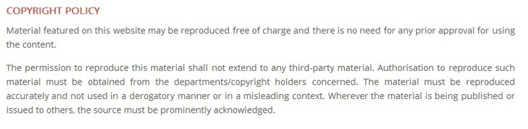 Indian Vice President website copyright policy