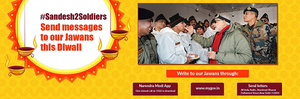 Behind Modi's Heartwarming Diwali Ad for Soldiers, An App That's Primed for Political Messaging