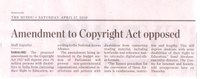 Amendment to Copyright Act opposed