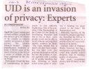 UID is an invasion of privacy: Experts