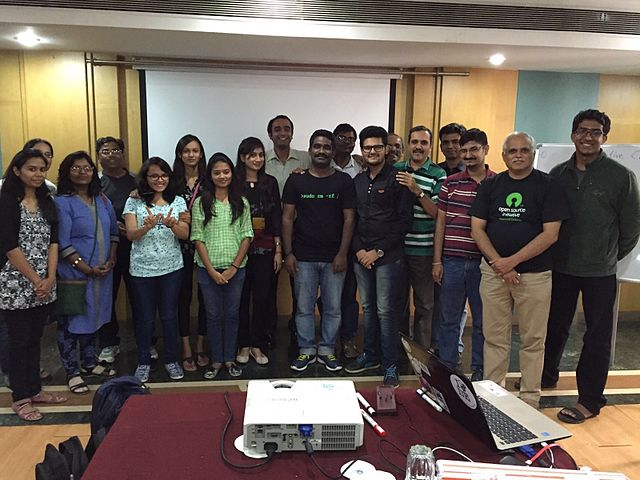 Training-the-trainer programme and Mediawiki training at Pune